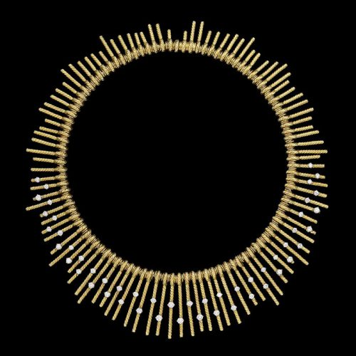 18ct Yellow Gold & Diamond Fringe Necklace by Jean Schlumberger