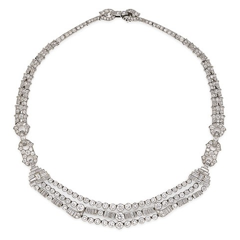 Art Deco Diamond Necklace by Cartier