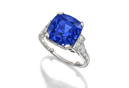Art Deco Sapphire and Diamond Ring by Tiffany & Co