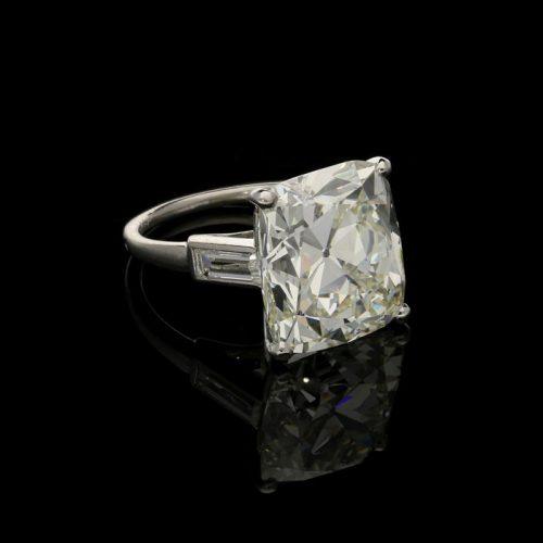 A 12.34ct Cartier old mine cut diamond ring, circa 1930s - £95,000