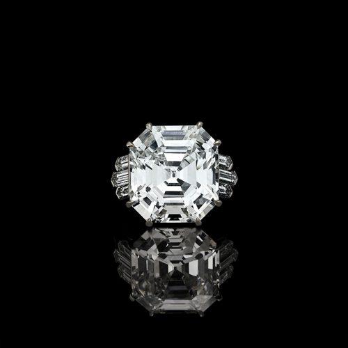 A magnificent 13.70ct vintage Asscher diamond ring – £450,000