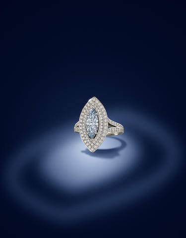 Fancy Coloured Diamond and Diamond Ring by Boodles