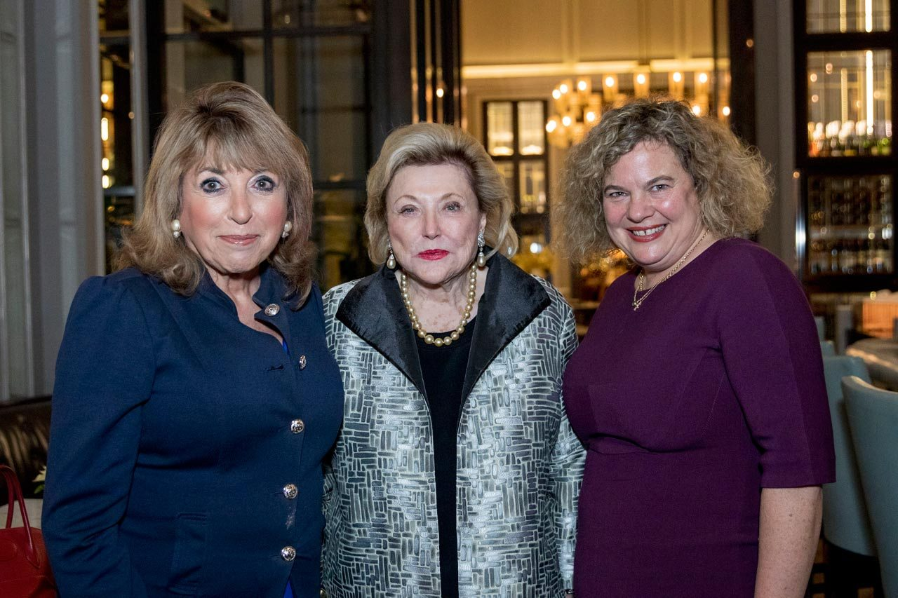 Eve Pollard, founder of Women in Journalism, Barbara Taylor Bradford, WIJ's newly appointed Ambassador, and Eleanor Mills, Chair of Women in Journalism pictured at Corinthia London