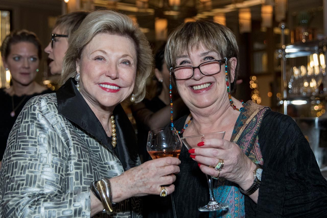 Barbara Taylor Bradford with journalist and Radio 4 Woman'S Hour presenter Jenni Murray pictures at Corinthia London