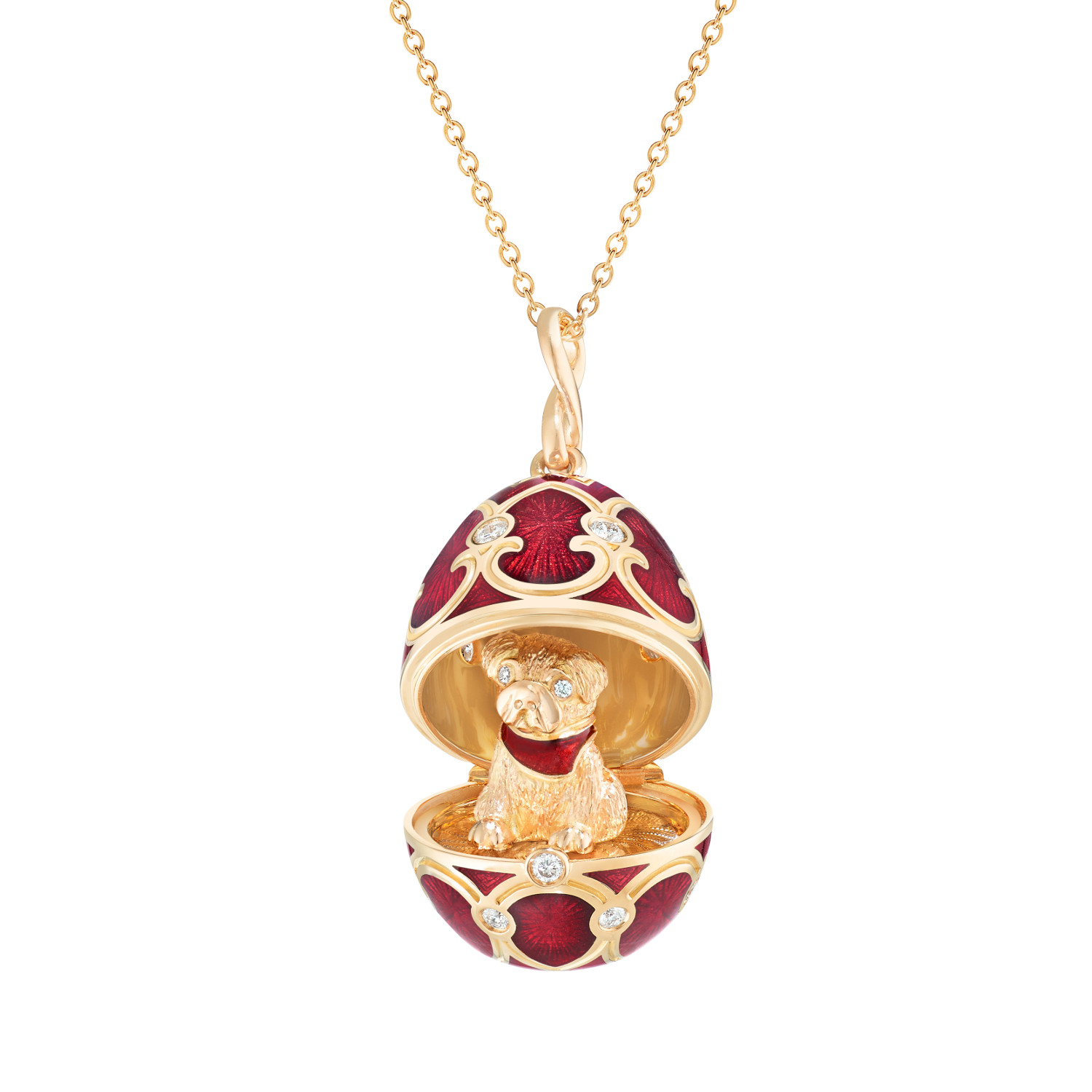 Fabergé Palais Tsarskoye Selo Red Dog Surprise Locket