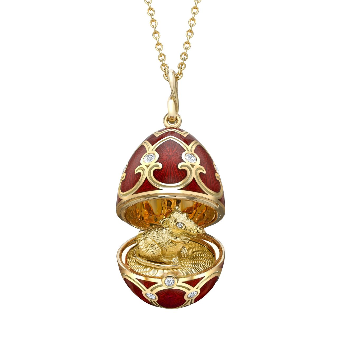 Fabergé Palais Tsarskoye Selo Red Rat Surprise Locket