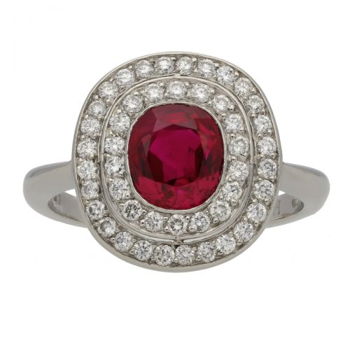 Ruby and Diamond Ring by Hancocks London